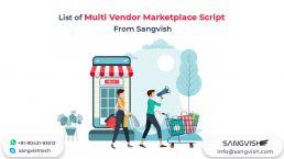 List of Multi Vendor Marketplace Script From Sangvish